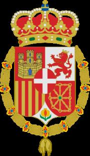 Escudo personal de Amadeo de Saboya como rey de España.