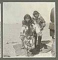 Eskimo boy and girl in fur parkas, Port Clarence, Alaska, July 1899 (HARRIMAN 197).jpg