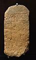Estela funerària del Pla de Vinyets, Museu de la Valltorta.JPG