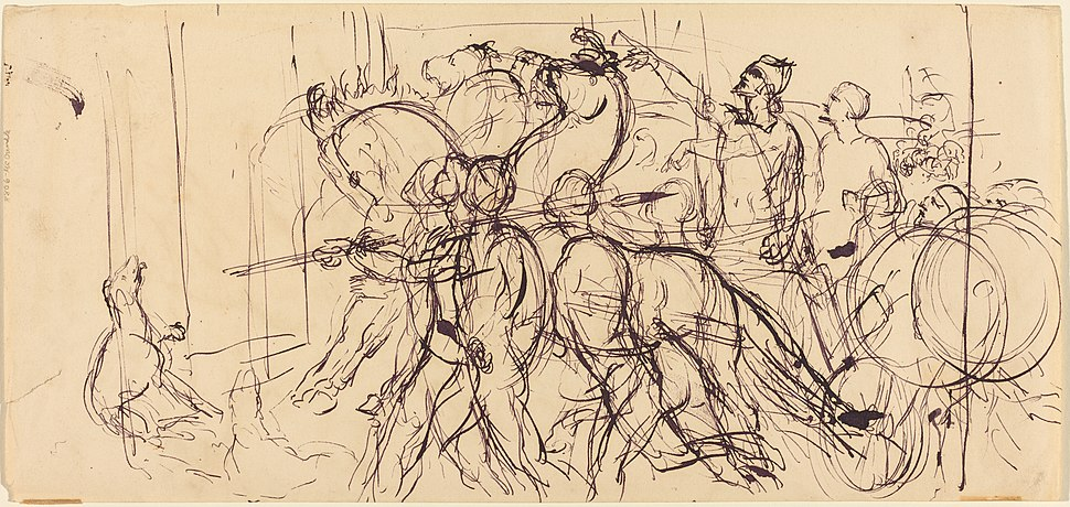 Eugène Delacroix, Charioteers, NGA 151237