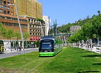 Tramway track - Image: Eusko Tran