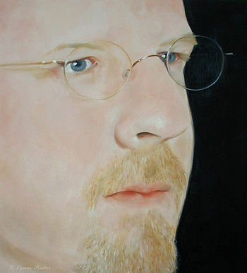 English: portrait of composer Erling Wold, pai...