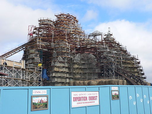 Expedition Everest under construction