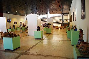 Handcrafts and folk art in Oaxaca - Exhibition hall from the Museo Estatal de Arte Popular de Oaxaca