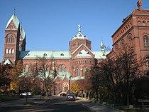 Exterior of the Basilica in Katowice Panewniki Poland.JPG
