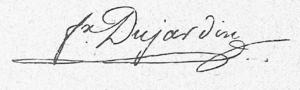 Félix Dujardin - Image: Félix Dujardin Signature (1841)
