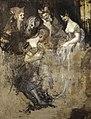 Füssli - Group of Five Women Mocking an Effaced Figure (Falstaff in the Laundry Basket Mocked by Women) (verso), 486148.2.jpg