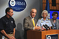 FEMA - 37867 - Dirk Kempthorne, Secretary, Department of Interior at the afternoon FEMA press conference.jpg