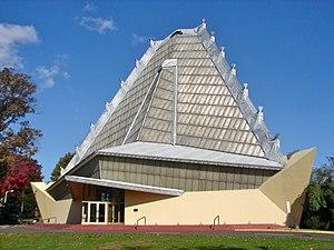 Beth Sholom Congregation (Elkins Park, Pennsylvania) - Image: FLW Beth Sholom exterior