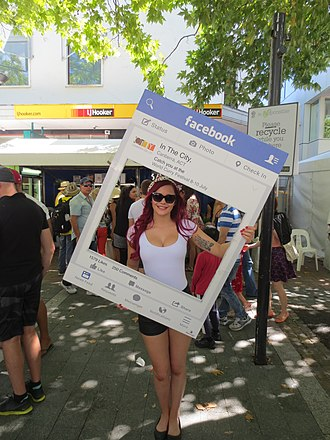 Human billboard advertising Facebook Canberra in the City page at the National Multicultural Festival Facebook advertising.jpg