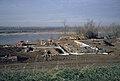 Falls of the Ohio interpretive center under construction Clarksville Indiana USA Ohio River mile 605 December 1992 file 92L017.jpg
