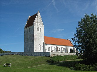 Fanefjord Church - Fanefjord Church from the southwest