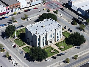 Bonham, Texas - Fannin County Courthouse, Bonham, Texas, built in 1889