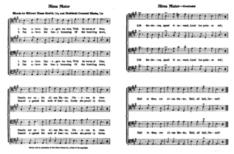 "Annie Lisle - Sheet music for the alma mater of Cornell University, adopted from ""Annie Lisle"". Melody is on the second line."