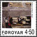 Faroe stamp 354 ingalvur av reyni - village.jpg