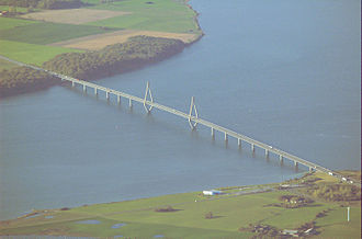 Sydhavsøerne - The southern Farø Bridge between Farø and Falster, an important gateway to the area