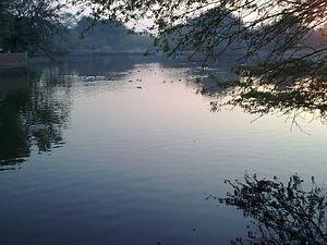 Fatehgarh - A pond of a village in Fatehgarh