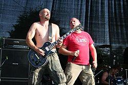 Jupe (links) und Gränzer auf einem der letzten Konzerte