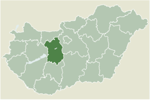 Szabadbattyán - Location of Fejér county in Hungary
