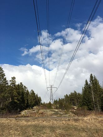 Fenno–Skan - Fenno-Skan HVDC power line, running over Turku-Pori route in Finland. Unlike in 3-phase AC power transfer, only two wires instead of three are required (in addition to the lightning protection wires, which on the Finnish side serve as electrode line).