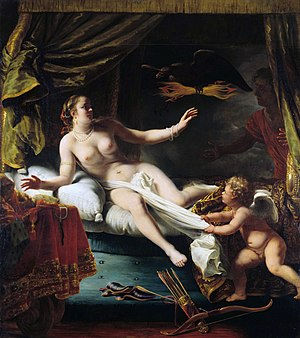Aegina (mythology) - Aegina Awaiting the Arrival of Zeus.  Painting by Ferdinand Bol.