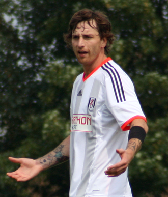 Fernando Amorebieta - Amorebieta in action for Fulham in 2014.