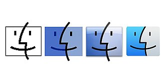Finder (software) - The evolution of Finder icons starting with Mac OS 7.6. Earlier systems used a Happy Mac-style icon for the Finder software.