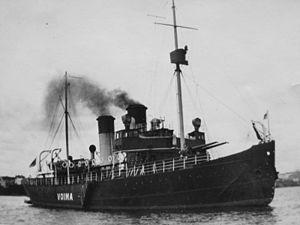 Voima (1924 icebreaker) - Voima was fitted with 120 mm Pattern 1905 deck guns before the Second World War