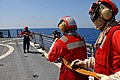 Fire training on the flight deck of the USCGC Dallas DVIDS1088289.jpg