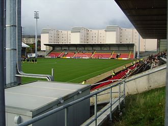 History of football in Scotland - Partick Thistle rebuilt two stands at Firhill Stadium and hosted two other clubs who had been made homeless.