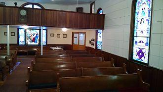 First Universalist Church of Lyons, Ohio - Inside of church.
