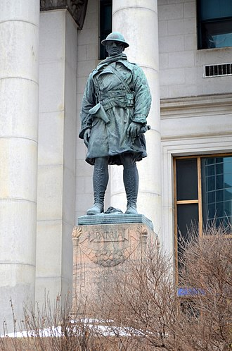 Wynn Bagnall - First World War Memorial statue in front of Bank of Montreal
