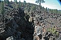 Fissure & squeeze-up (Bonito Lava Flow, upper Holocene, erupted from Sunset Crater; San Francisco Volcanic Field, Arizona, USA) 1 (49125798878).jpg