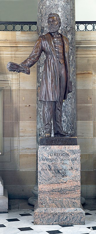 Jason Lee (Proctor) - Duplicate statue of Jason Lee at the United States Capitol in 2011