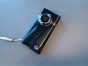 Picture of a Flip Mino HD video camera.