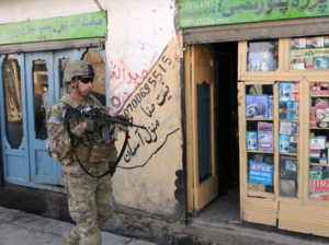 Florent Groberg - Florent Groberg patrols the city streets of Asadabad, Afghanistan, on Feb. 9, 2010.
