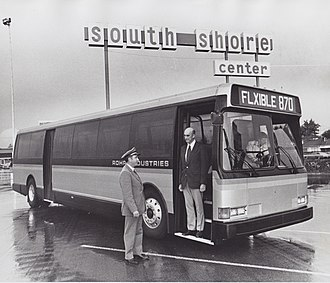 Flxible Metro - Flxible/Rohr 870 prototype at Alameda South Shore Center while testing with AC Transit, September 1976