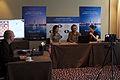 Fondation Neva Women's Grand Prix Geneva 11-05-2013 - Tuvshintugs Batchimeg and Viktorija Cmilyte during the press conference.jpg