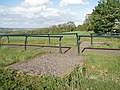 Footpath crossing gallops - geograph.org.uk - 431225.jpg