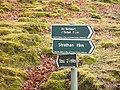Footpath signs, Bracorina - geograph.org.uk - 742259.jpg