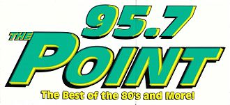 WHIO-FM - Former WDPT 95.7 The Point Logo