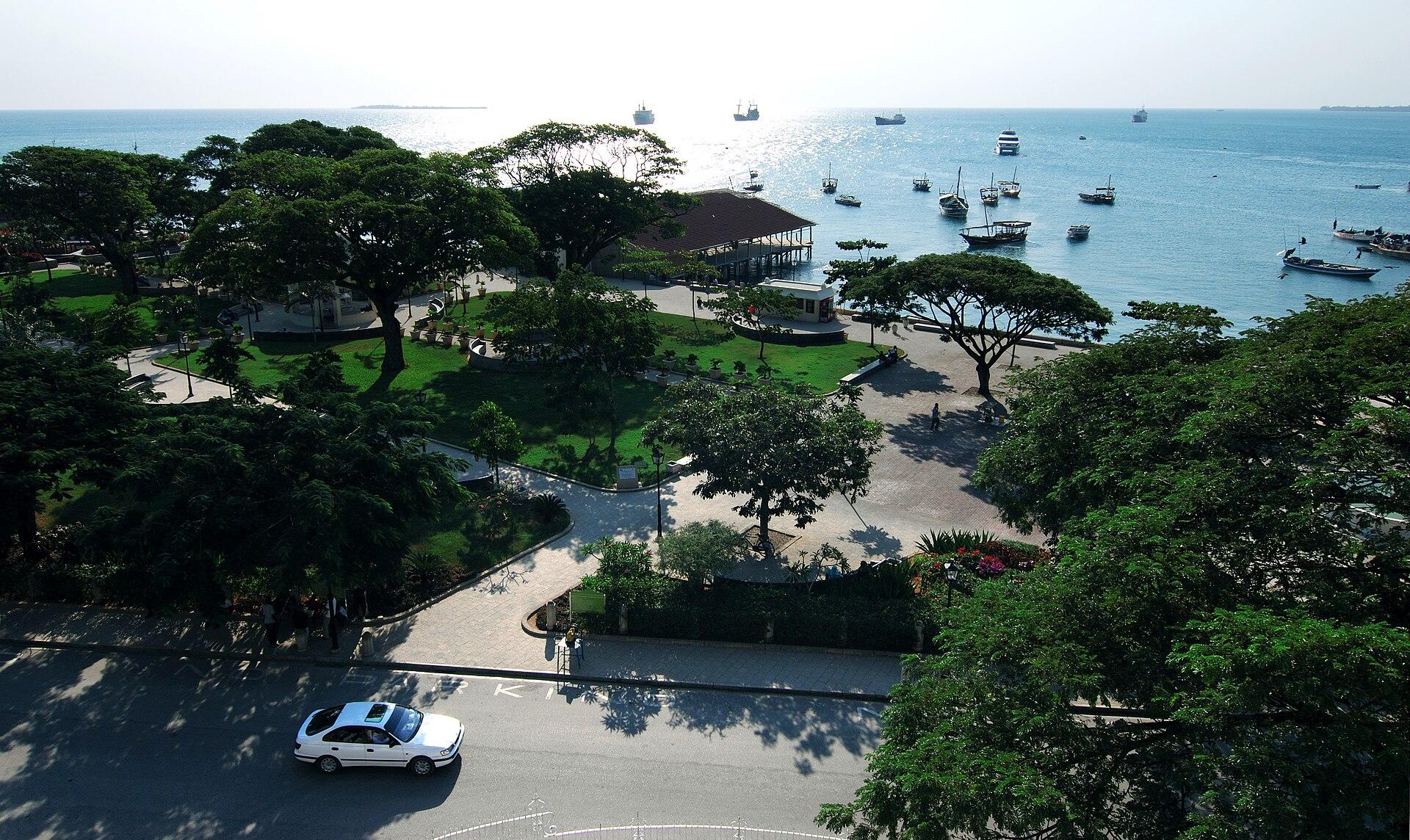 The Forodhani (harbour) Gardens in Stone Town, Zanzibar