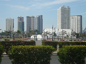 Taguig: Bonifacio Global City contested between Taguig and Makati.svg