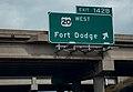 Fort Dodge - US Route 20 West Highway Sign (30765744457).jpg