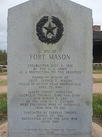 Fort Mason (Texas) - Image: Fort Mason 2