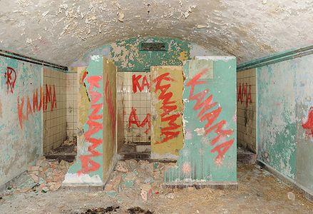 Fort du Salbert: showers