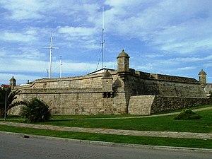 Fort of Leça de Palmeira - The tiered battlements of the Forte de Leça de Palmeira