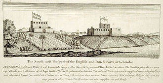 History of Ghana - Neighbouring British and Dutch forts at Sekondi