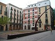 Náměstí Fossar de les Moreres, Barcelona, Španělsko