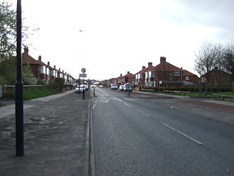 Milecastle 1 - A187 road in the vicinity of Milecastle 1